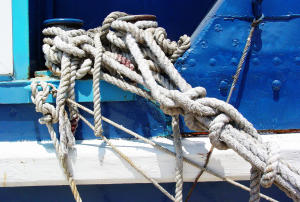 Knot_on_a_Boat_Moored_in_Trogir_-_Croatia