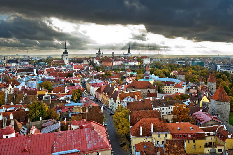 Estonia, Tallinn, general view