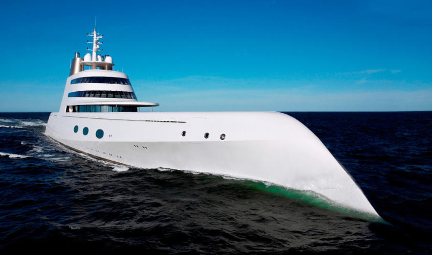 Mega Yacht A. Design by Philippe Starck.