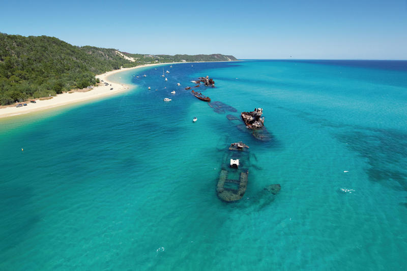 Aerial Tangalooma Wreck