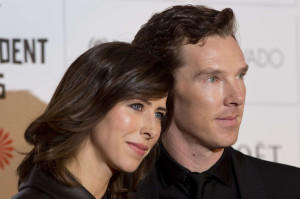 Benedict-Cumberbatch-with-fiancee-Sophie-Hunter