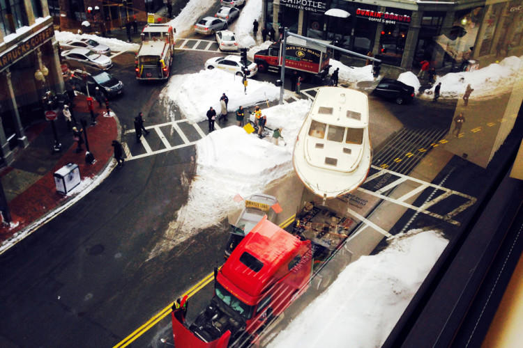 Winter Weather Boat Jam