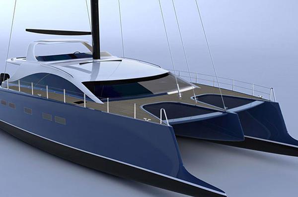 Catamaran sailing yacht / cruising / semi-custom