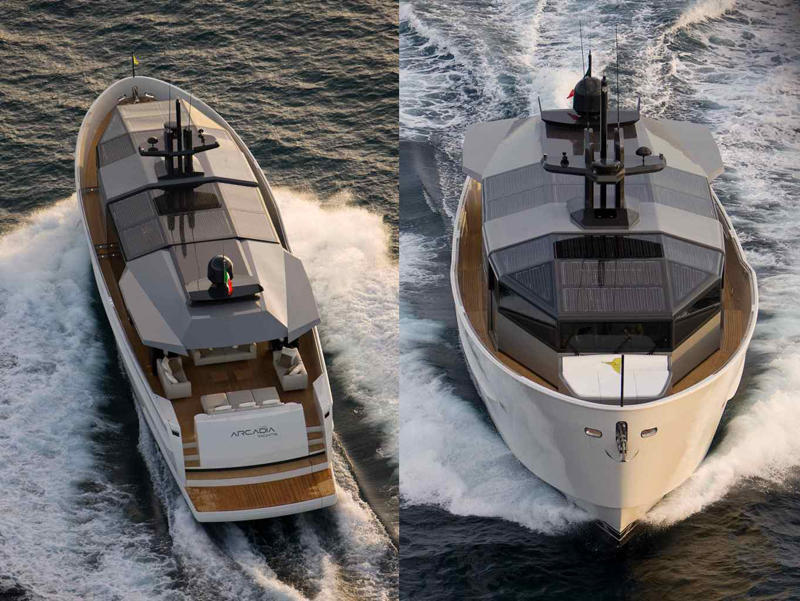 Arcadia Yachts SOLAR - From Aft