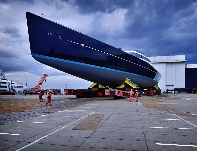Oceanco and Vitters Shipyard Launch Project 85