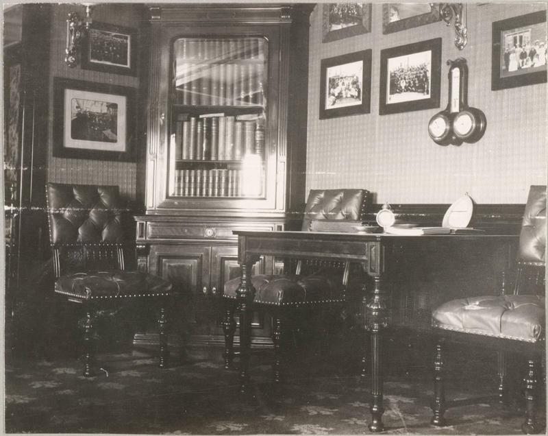 Рабочий кабинет Николая II на Штандарте