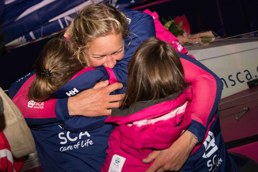 June 11, 2015. Team SCA wins Leg 8 to Lorient
