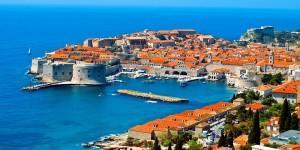 Harbour of Dubrovnik in Croatia