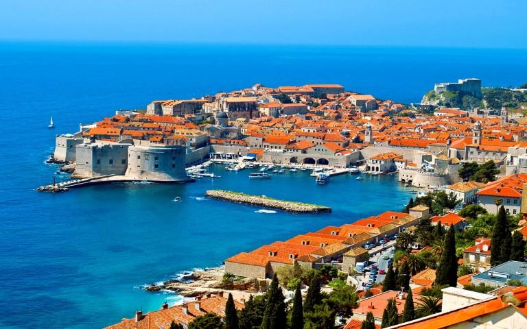 Harbour of Dubrovnik in Croatia