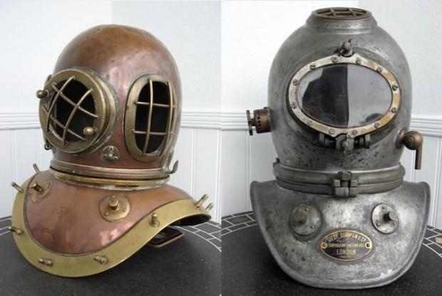 Шлемы водолазных костюмов - настоящее произведение искусства
