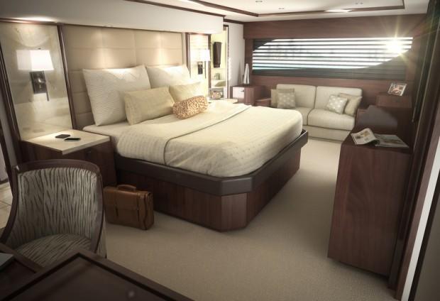 Viking 92 Convertible Yacht - Cabin