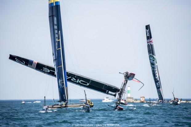 06/08/16 - Chicago (USA) - Practice Day 35th America's Cup Bermuda 2017 - Louis Vuitton America's Cup World Series New York - Setup Day –2