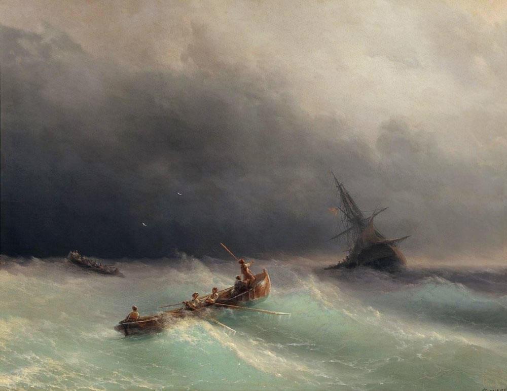 """Буря на море"" (1873)"