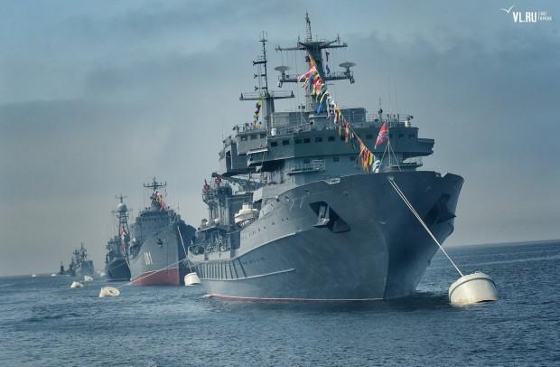 Во Владивостоке также прошел свой парад