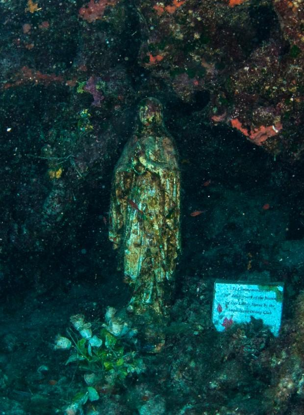 Святая Дева бережет свою подводную паству.Фото: Павел Дивин