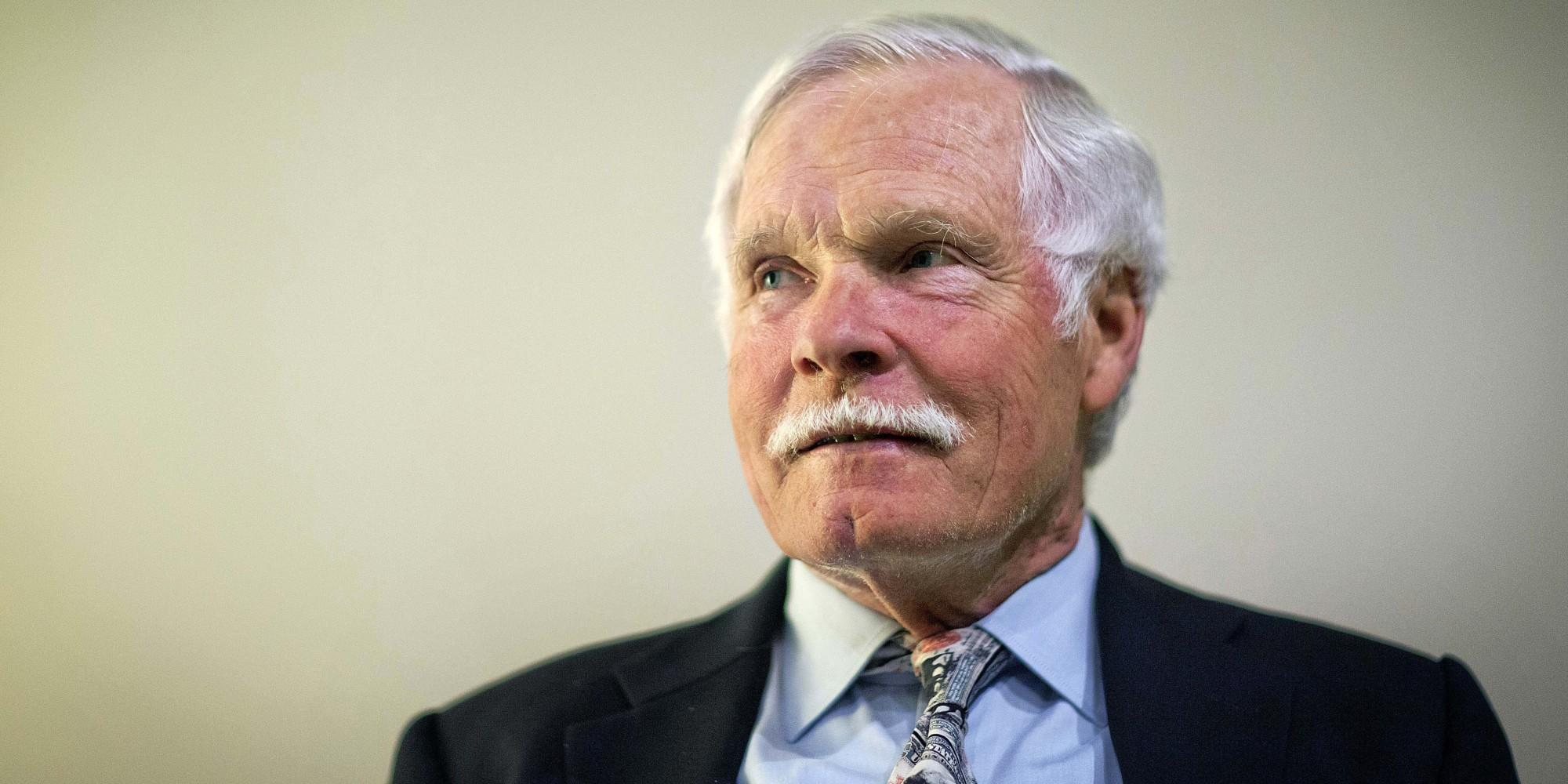 In this Friday, Dec. 6, 2013, photo, Ted Turner sits for a portrait in Atlanta. Turner told The Associated Press in a recent interview that when Turner Field is demolished in four years, he hopes the city of Atlanta could turn the vacant area into green space. In November, the Atlanta Braves announced they are moving from Turner Field into a new 42,000-seat stadium complex in Cobb County in 2017. The old stadium, which was named after the 75-year-old media mogul, will be torn down after the Braves leave for their location in the suburbs. Turner, the former owner of the Braves, said he is still trying to fathom the move. (AP Photo/David Goldman)