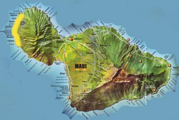 Карта Мауи