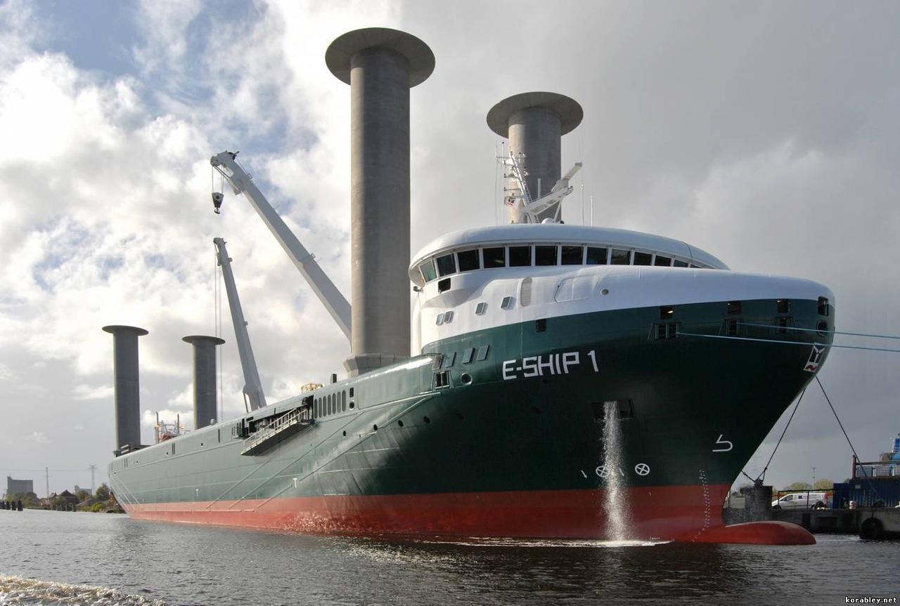 Пример судна с роторными парусами
