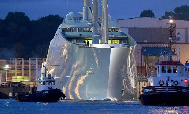 Mega yacht White Pearl ready for test journey
