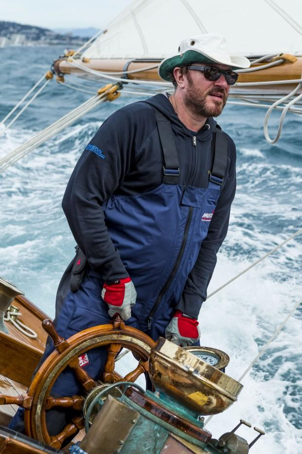 Cannes, France, 27 september 2012 Panerai Classic Yacht Challenge Regates Royales de Cannes 2012 Simon Le Bon at the helm of Eilean Ph:Guido Cantini/Sea&See/Panerai