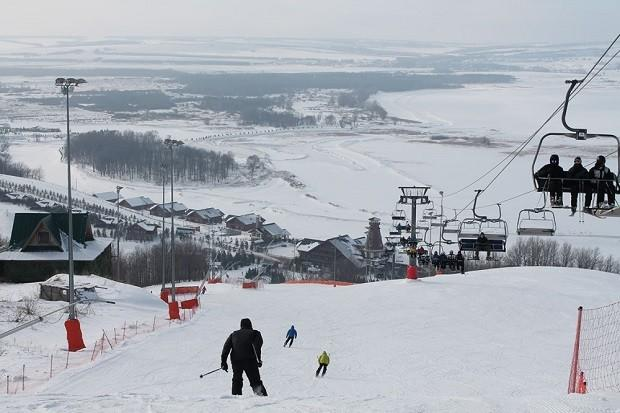 зимний горнолыжный курорт Казань Свияга-5