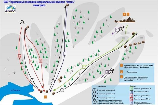 зимний горнолыжный курорт Казань Свияга-6
