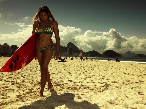 Maya Gabeira in Rio de Janeiro